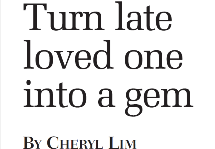 Turn late loved one into a gem